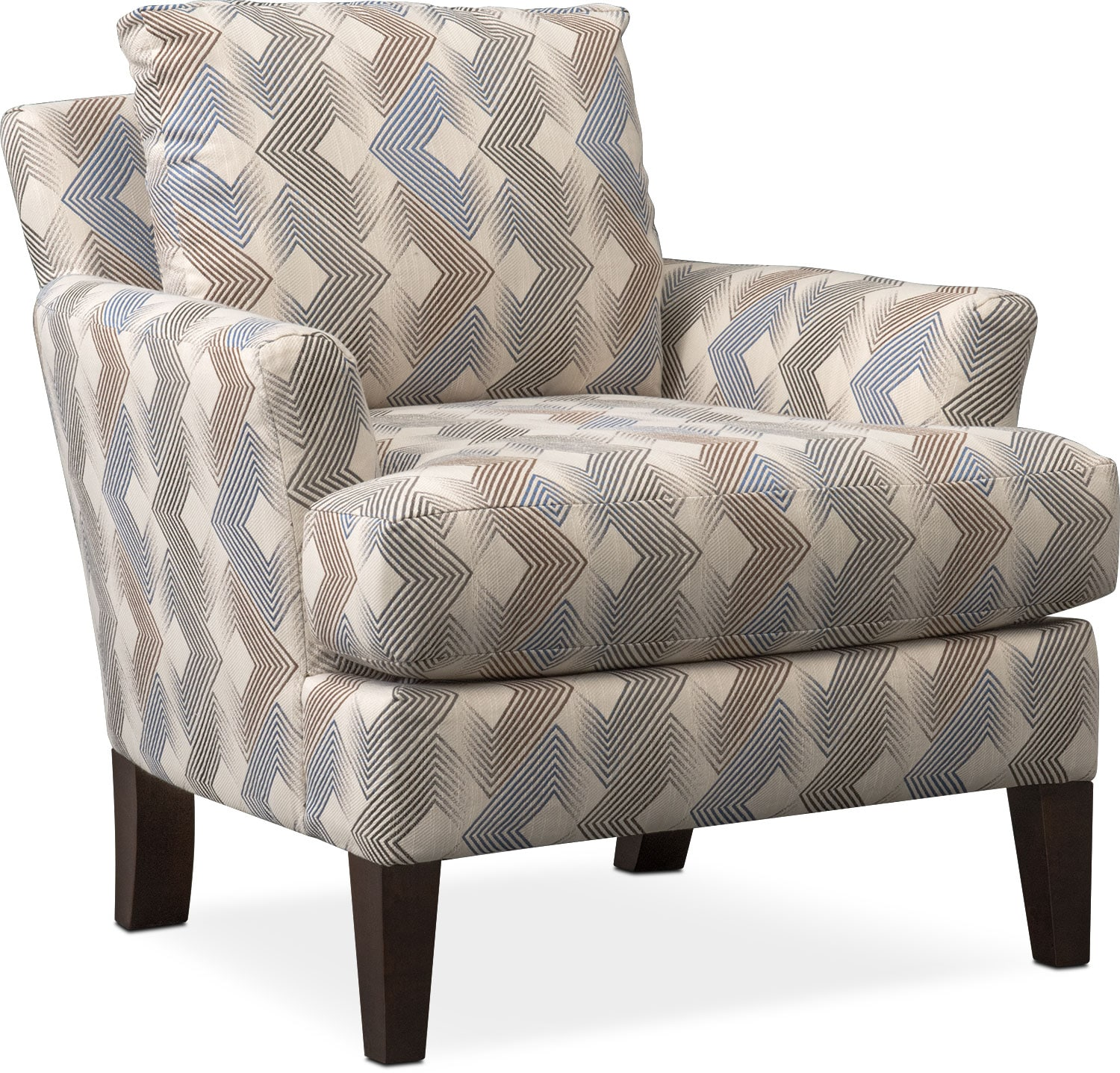 Living Room Furniture   Trevor Accent Chair   Twilight