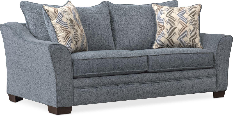 Living Room Furniture - Trevor Full Sleeper Loveseat