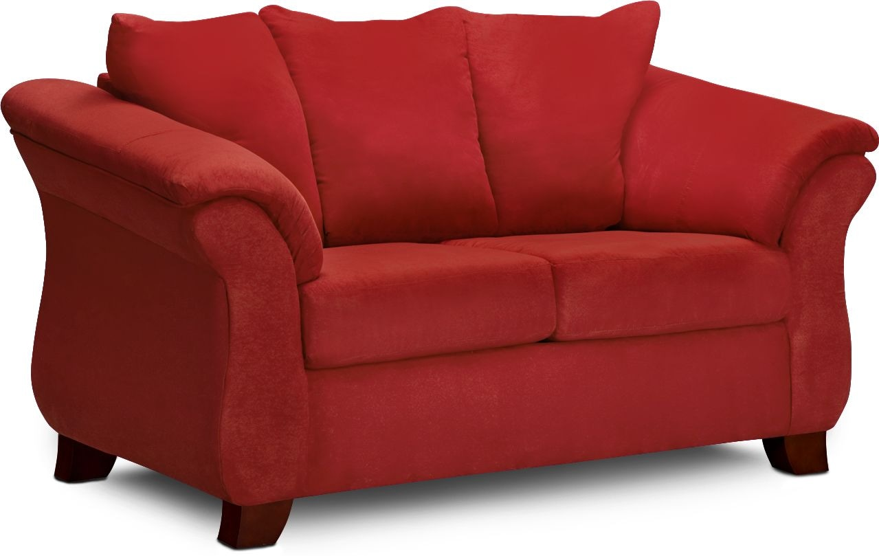 Adrian Loveseat   Red