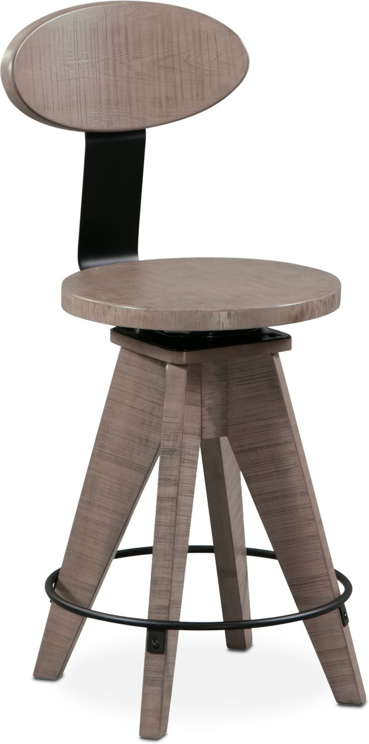 Tech Counter Height Drafting Stool   Gray