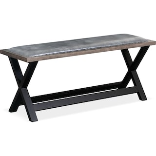 Tech Counter-Height Bench - Gray