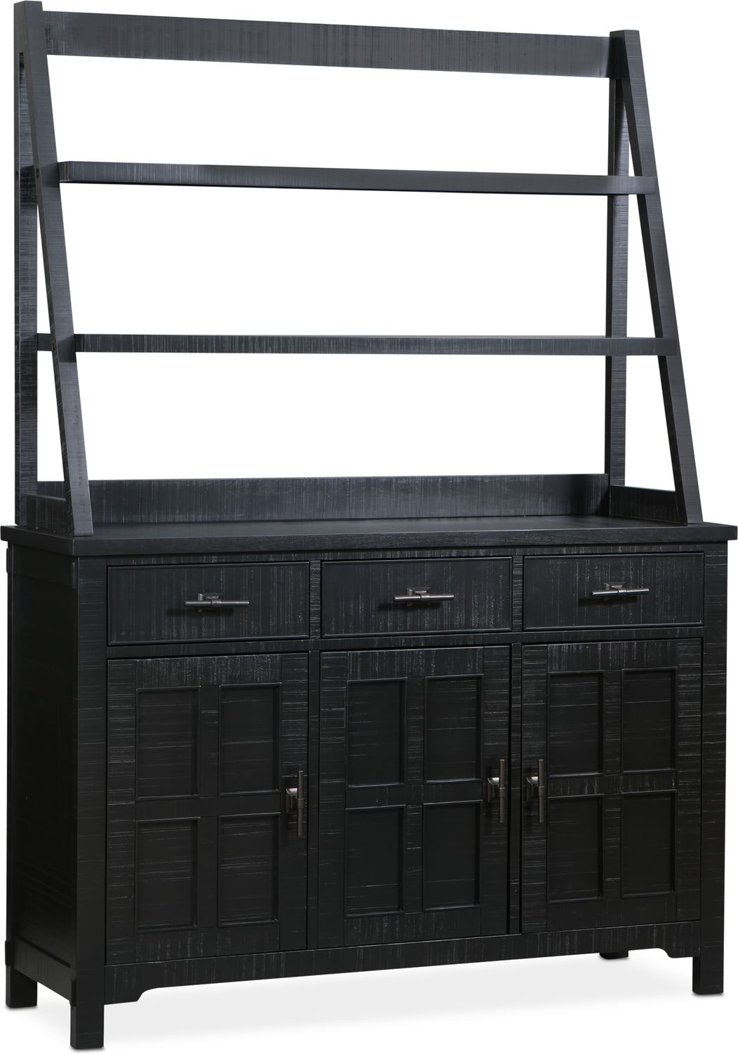 silver of cottage antique leona hutch room black amp buffet cabinet with steve dining shelves