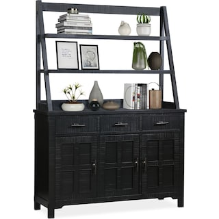 Tech Buffet and Hutch - Black