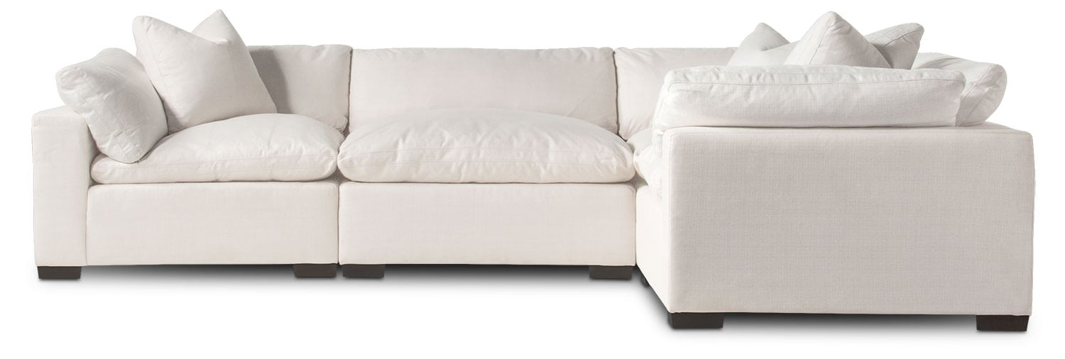 Living Room Furniture - Plush 4-Piece Sectional