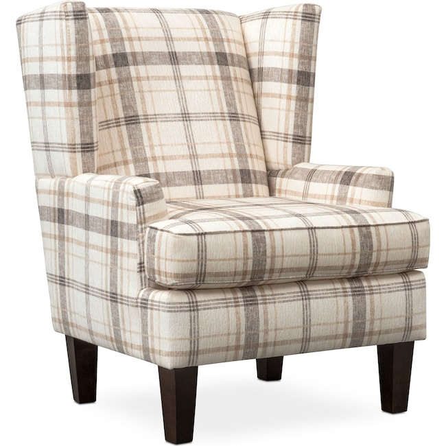 Living Room Furniture Rowan Accent Chair Plaid