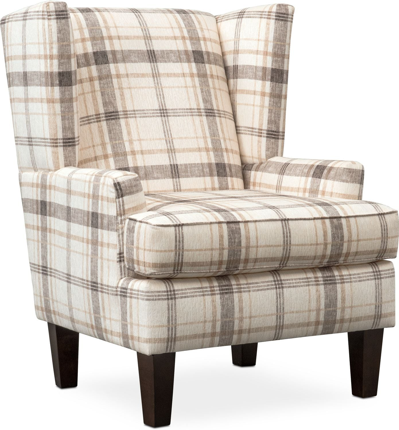 Delicieux Living Room Furniture   Rowan Accent Chair   Plaid