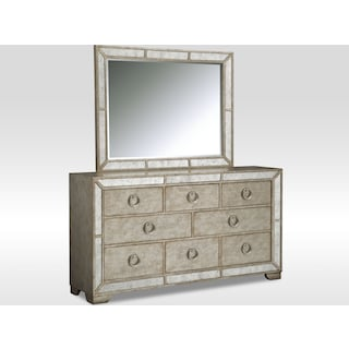 Angelina Dresser and Mirror - Metallic