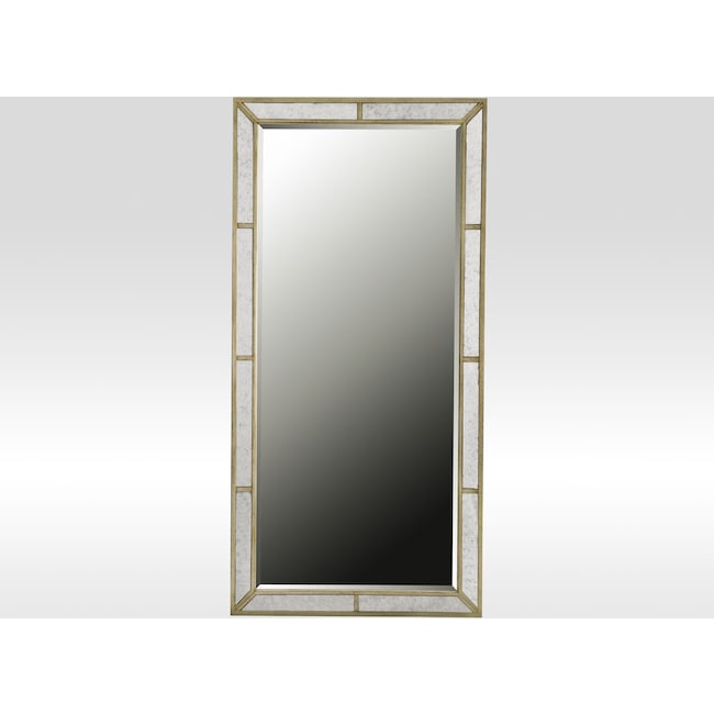 Angelina Floor Mirror - Metallic | Value City Furniture and Mattresses