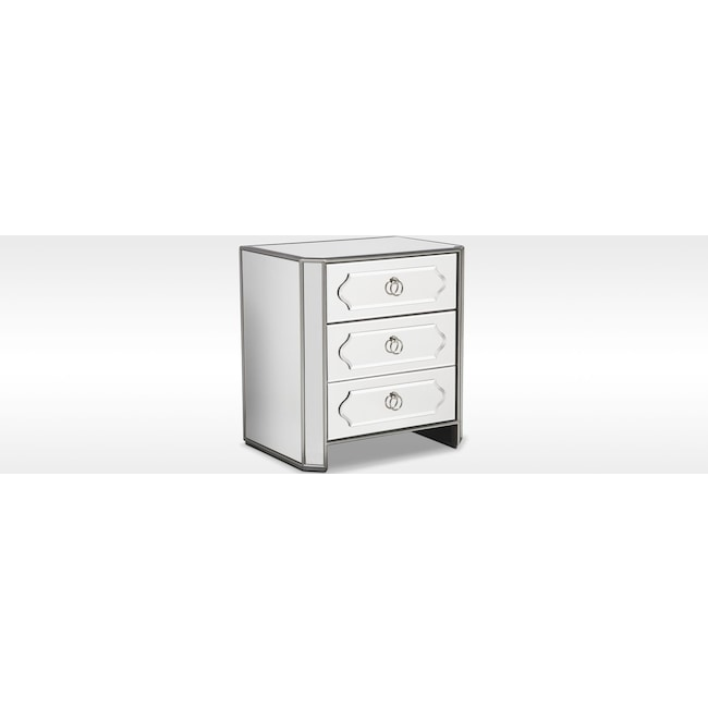 Bedroom Furniture - Harlow Bedside Chest - Mirrored