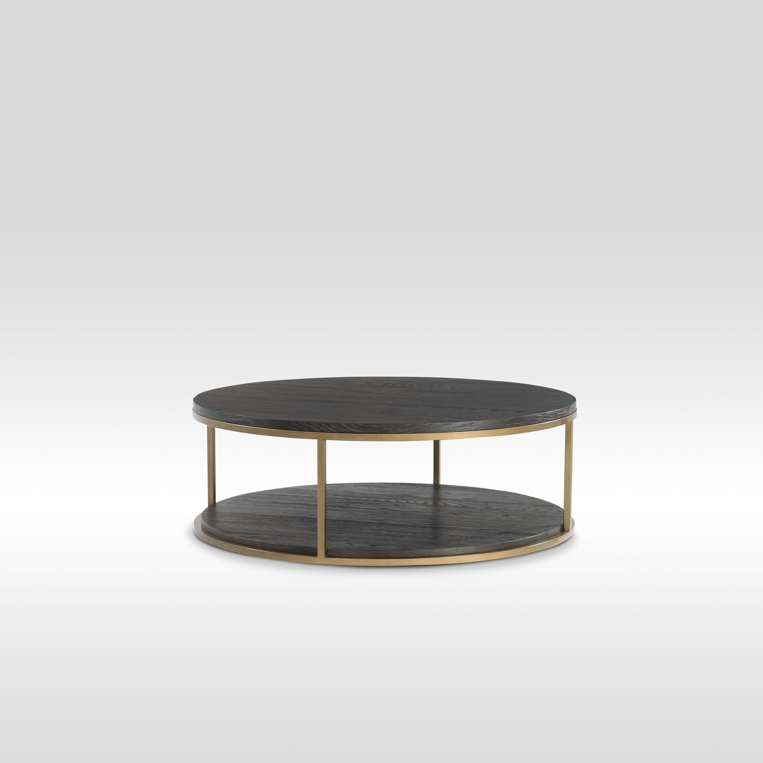 Malibu Round Metal Cocktail Table   Umber