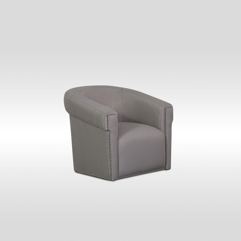 Talia Swivel Chair   Metallic