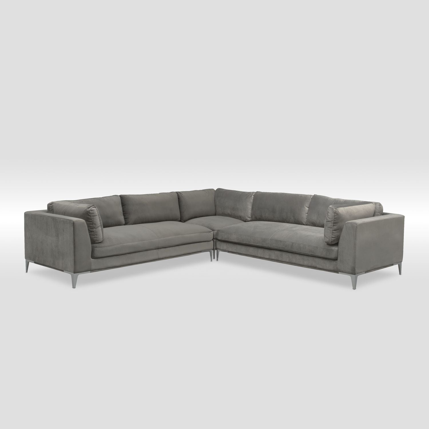 Aaron 3-Piece Sectional - Flannel   Value City Furniture and Mattresses