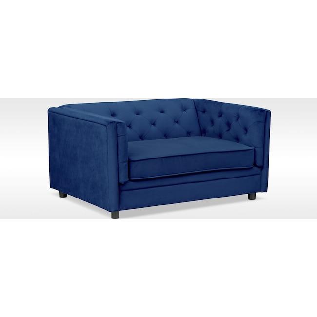 Living Room Furniture - Gabe Cuddler Chair - Indigo