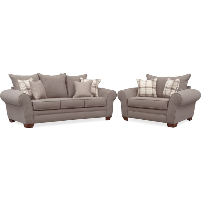 Awe Inspiring Rowan Sofa And Chair And A Half Set Gray Download Free Architecture Designs Rallybritishbridgeorg