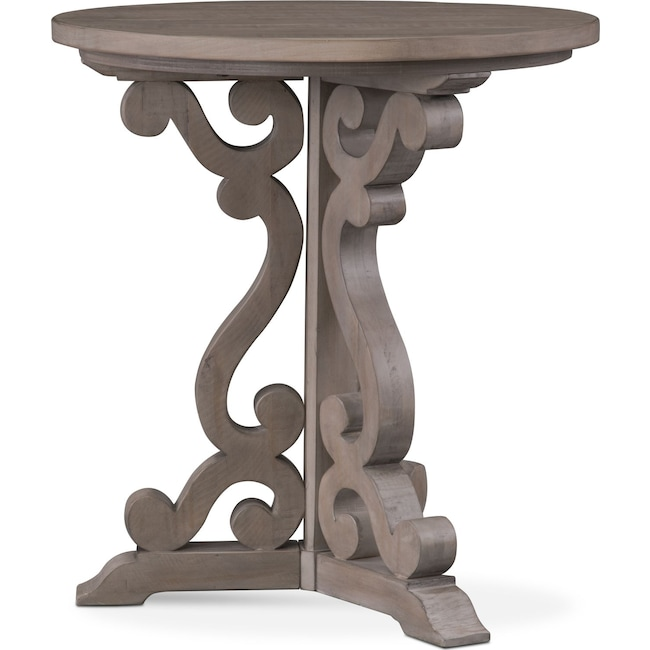 Accent and Occasional Furniture - Charthouse Chairside Table - Gray