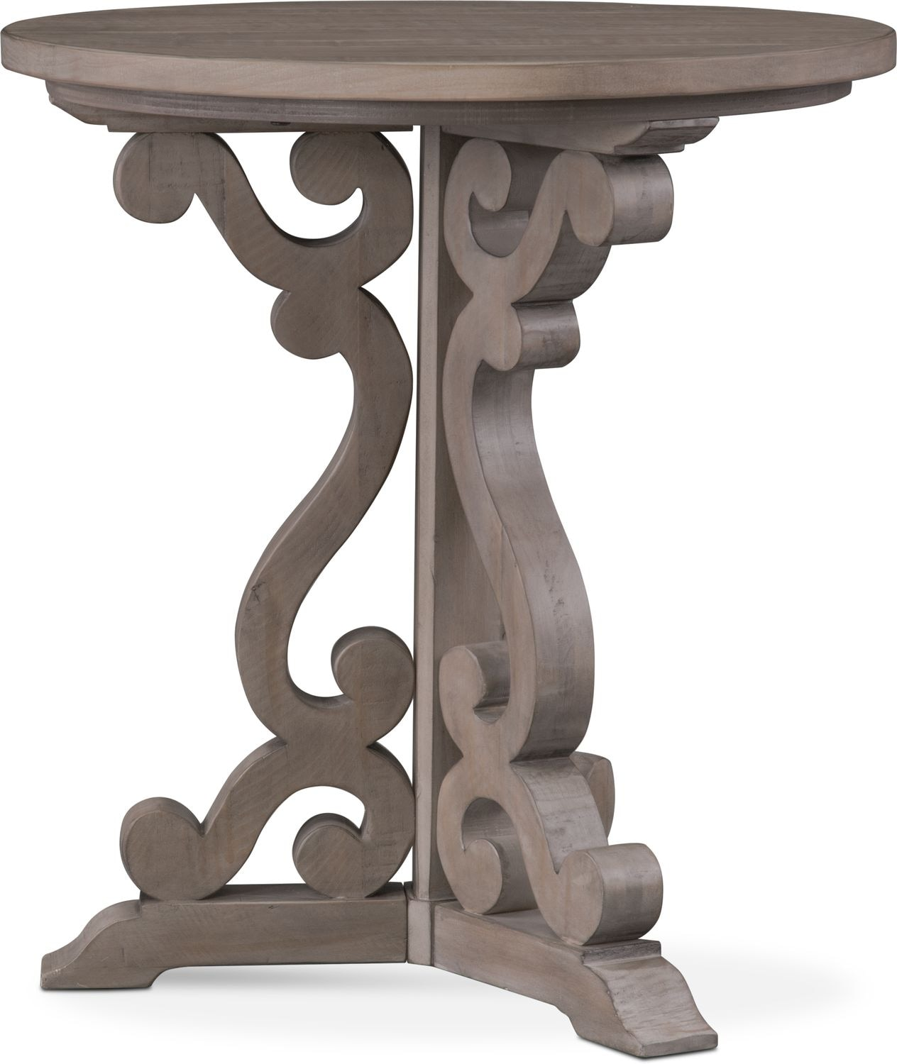 Charthouse Chairside Table   Gray