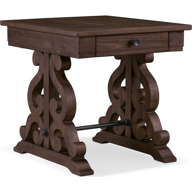 Accent and Occasional Furniture - Charthouse End Table - Charcoal