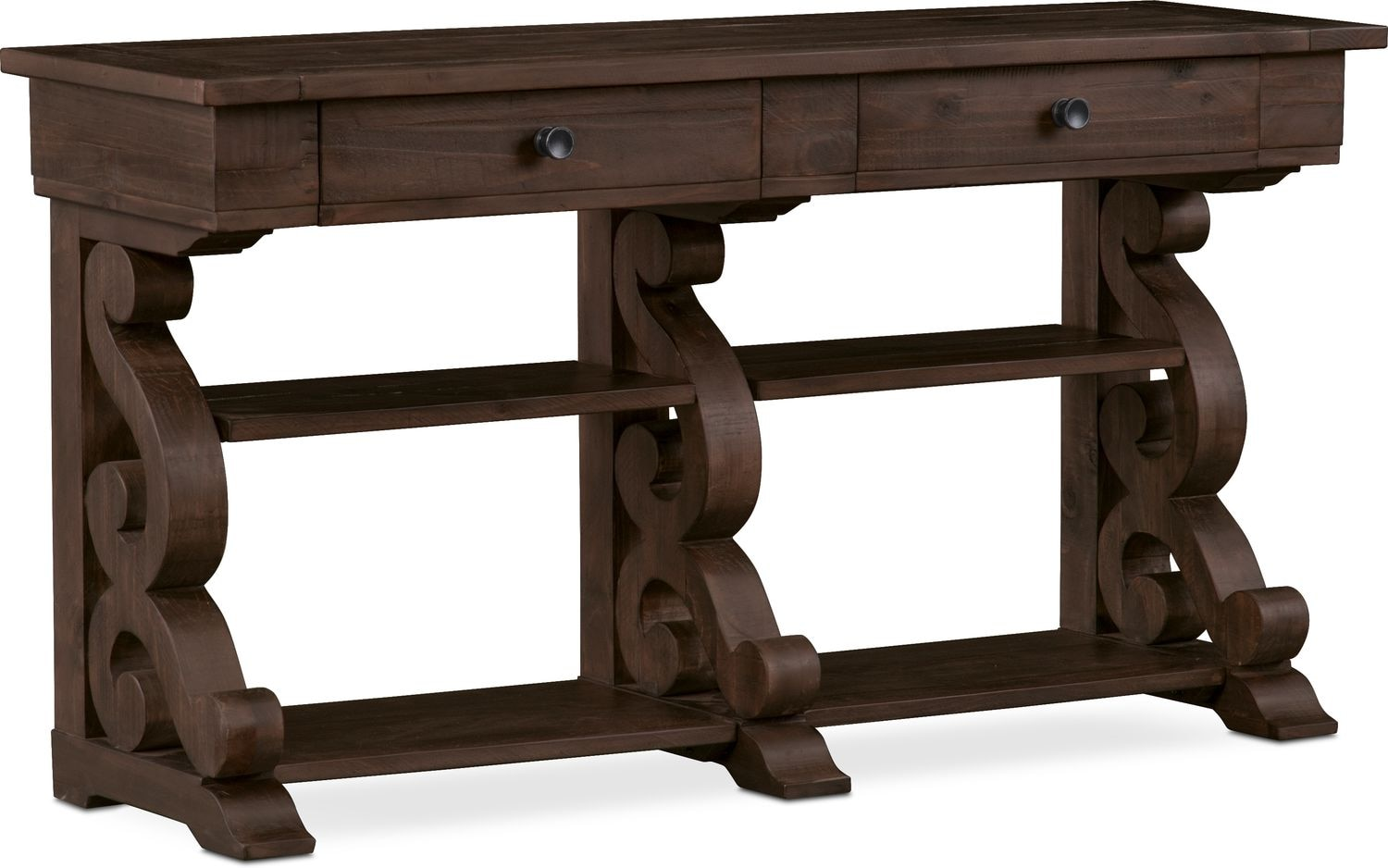 Charthouse Sofa Table   Charcoal