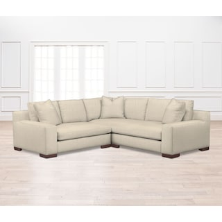 Ethan Comfort 2-Piece Sectional with Left-Facing Loveseat - Anders Cloud