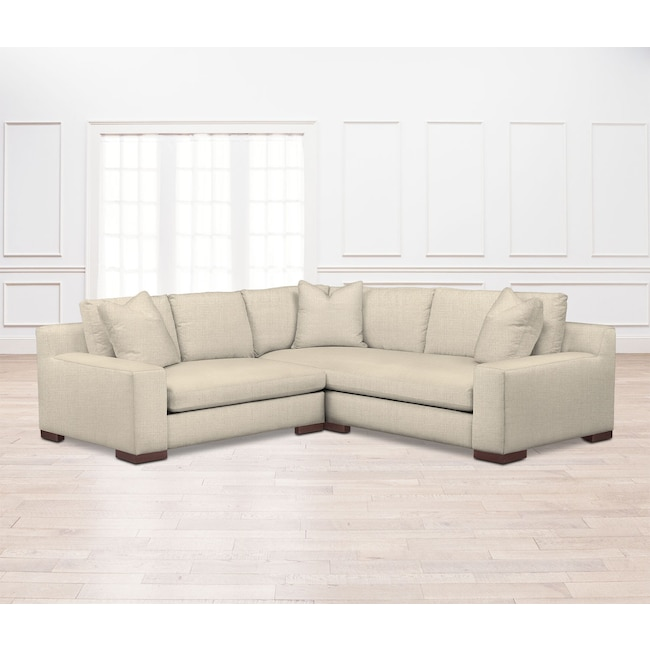 Living Room Furniture - Ethan Comfort 2-Piece Sectional with Left-Facing Loveseat - Anders Cloud