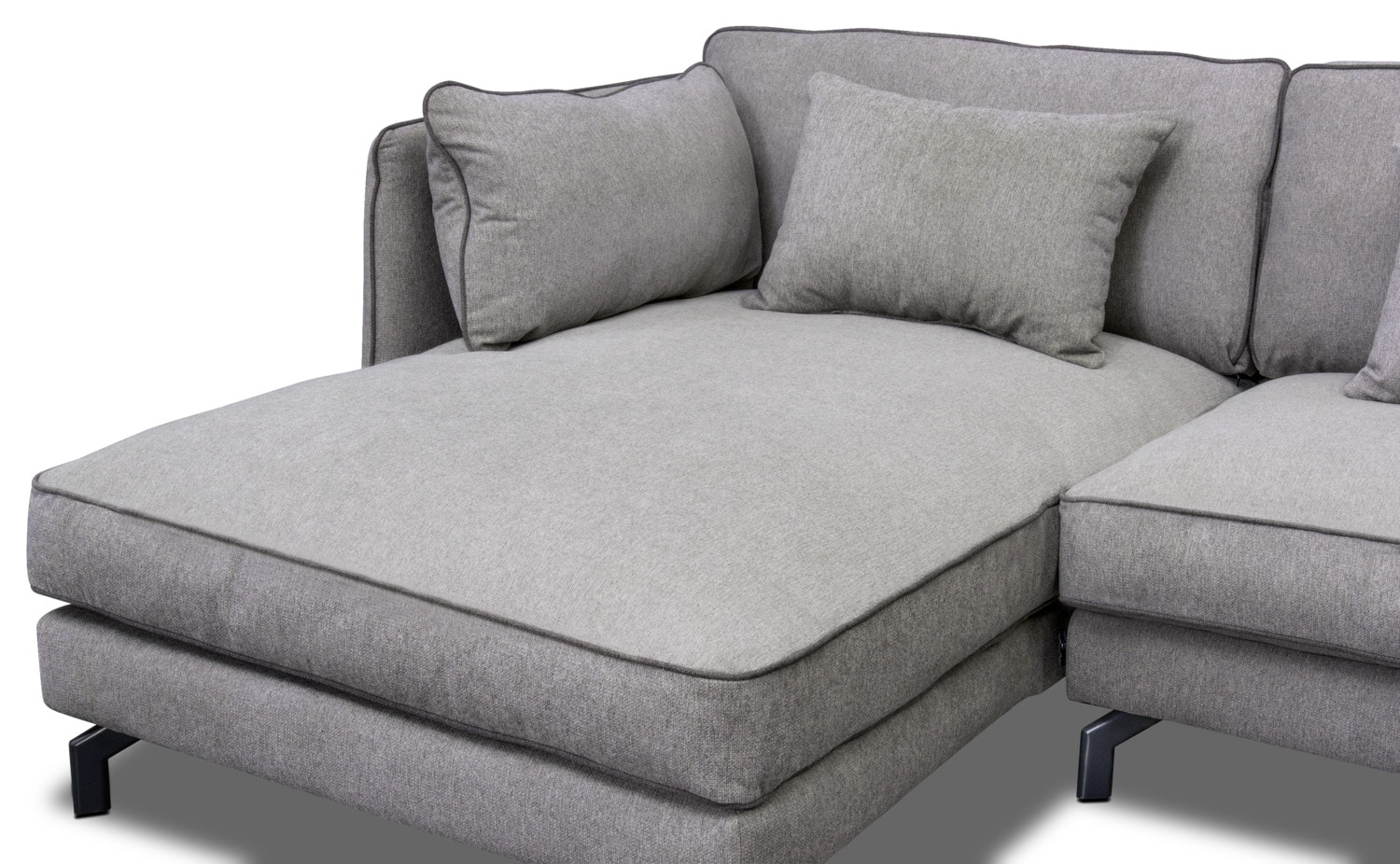 Toby 2-Piece Sectional with Left-Facing Chaise - Gray   Value City ...