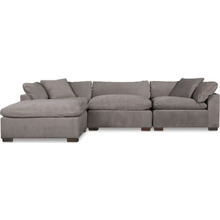 Plush 3-Piece Sofa and Ottoman