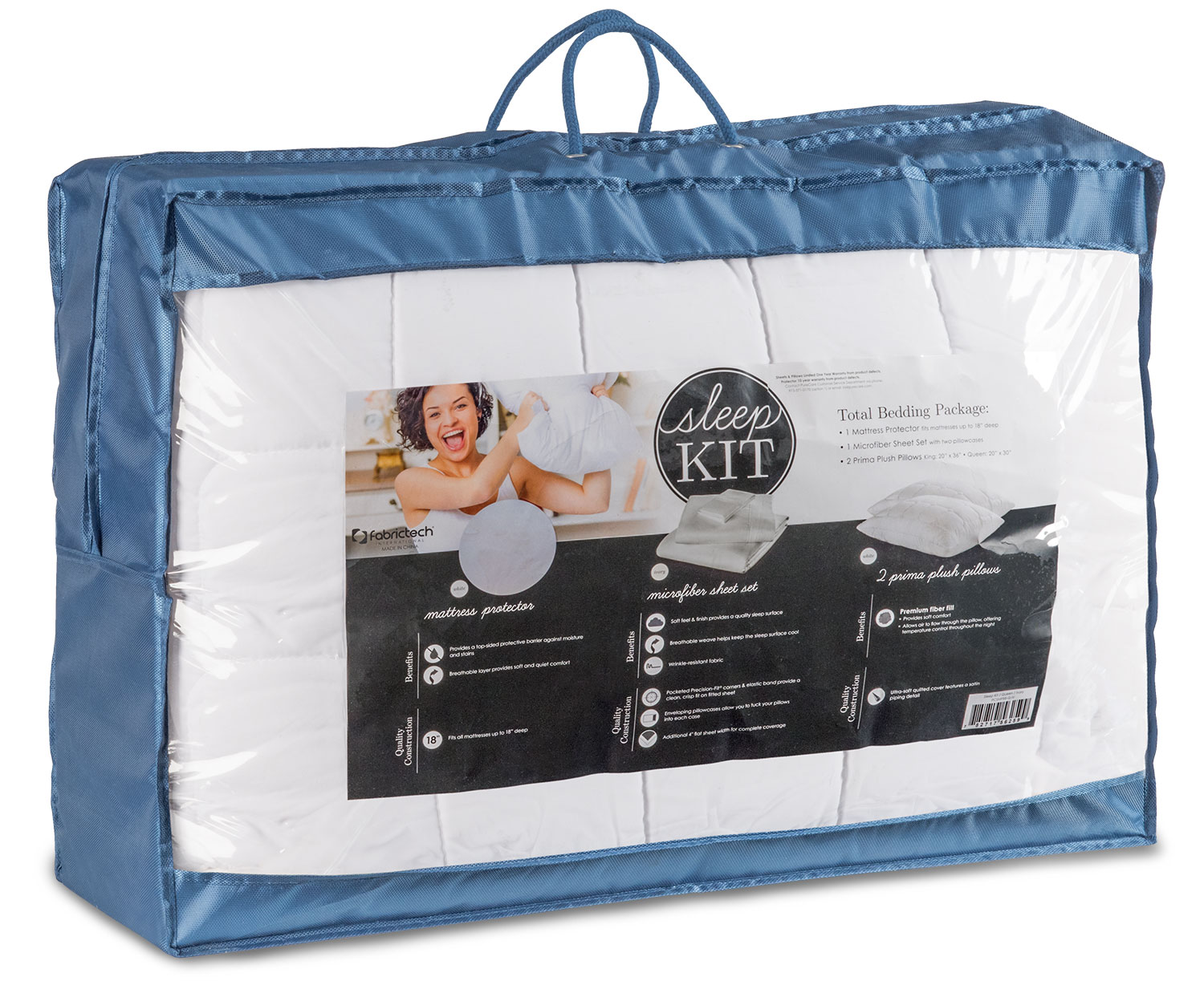 Mattresses and Bedding - Queen Sleep Kit - Gray
