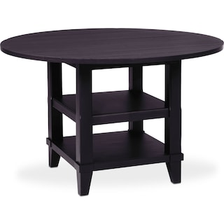 New Haven Round Drop-Leaf Dining Table - Black