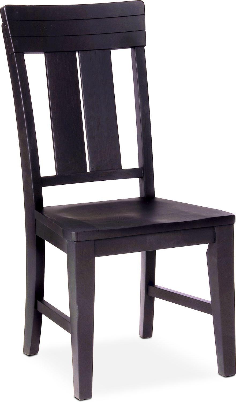 New Haven Slat-Back Side Chair - Black
