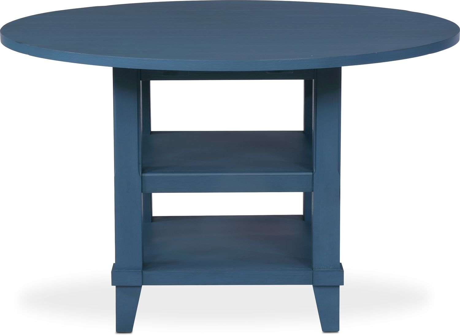New Haven Round Drop-Leaf Dining Table - Blue   Value City Furniture ...