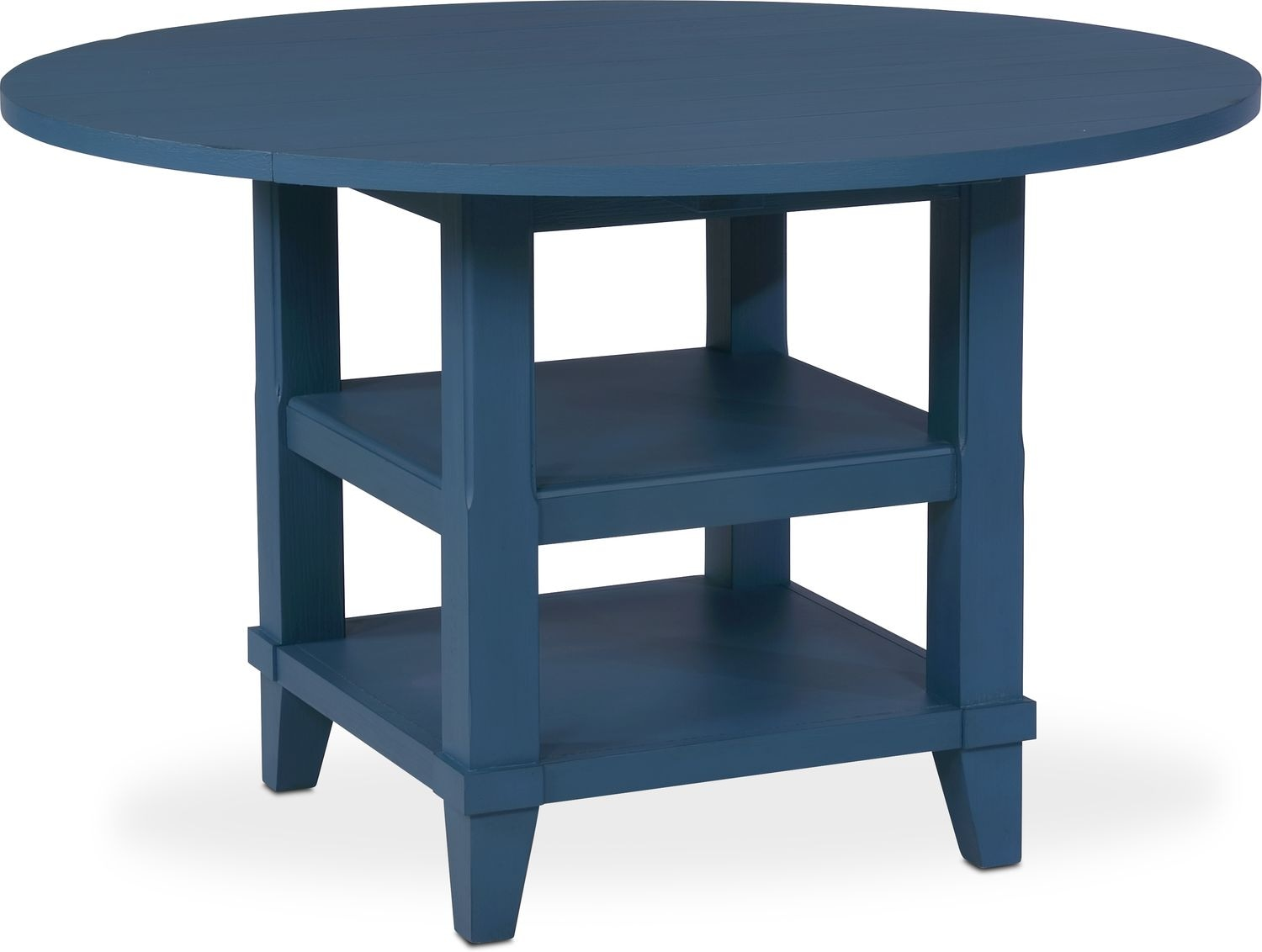 Dining Room Furniture   New Haven Round Drop Leaf Dining Table   Blue