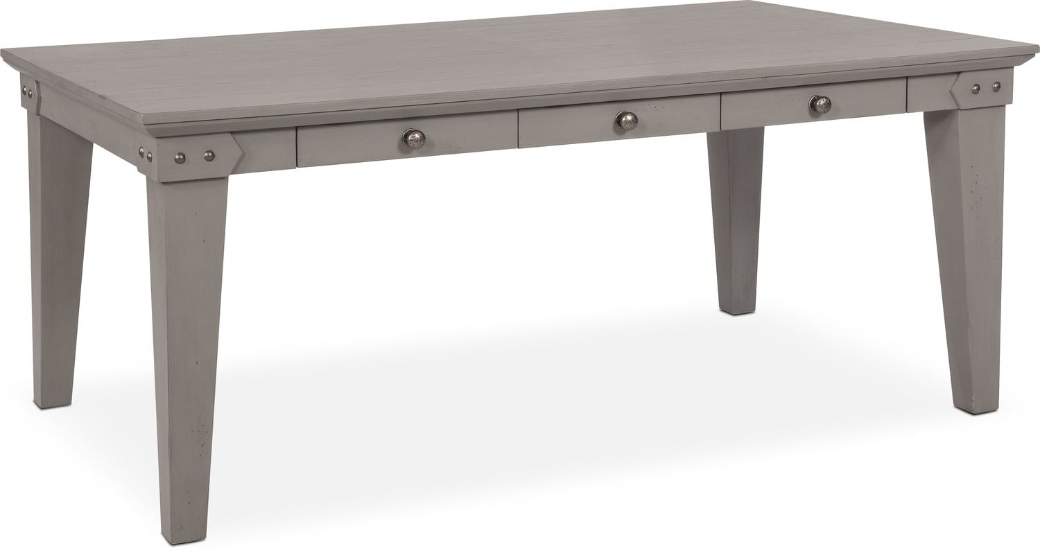 Dining Room Furniture   New Haven Dining Table   Gray