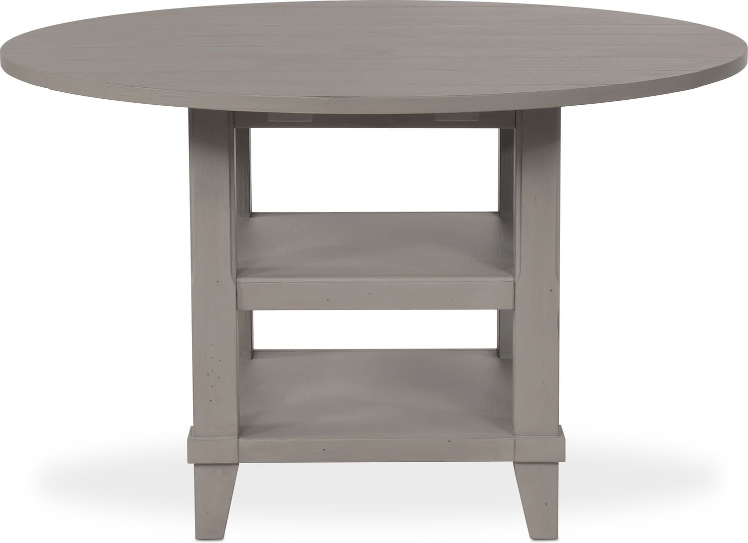 New Haven Round Drop Leaf Dining Table Gray Value City