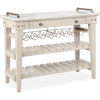 New Haven Serving Cart - White