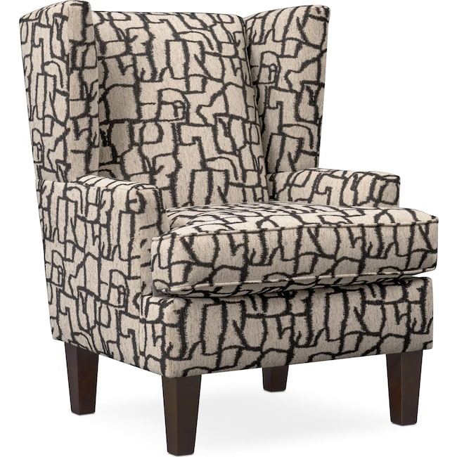 Living Room Furniture - Brooke Accent Chair - Black