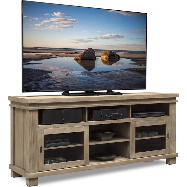 """Entertainment Furniture - Tribeca 74"""" TV Stand - Gray"""