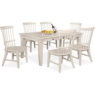 New Haven Dining Table and 6 Windsor Side Chairs