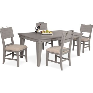 New Haven Dining Table and 4 Shiplap Side Chairs