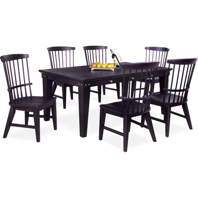 Dining Room Furniture - New Haven Dining Table and 6 Windsor Side Chairs