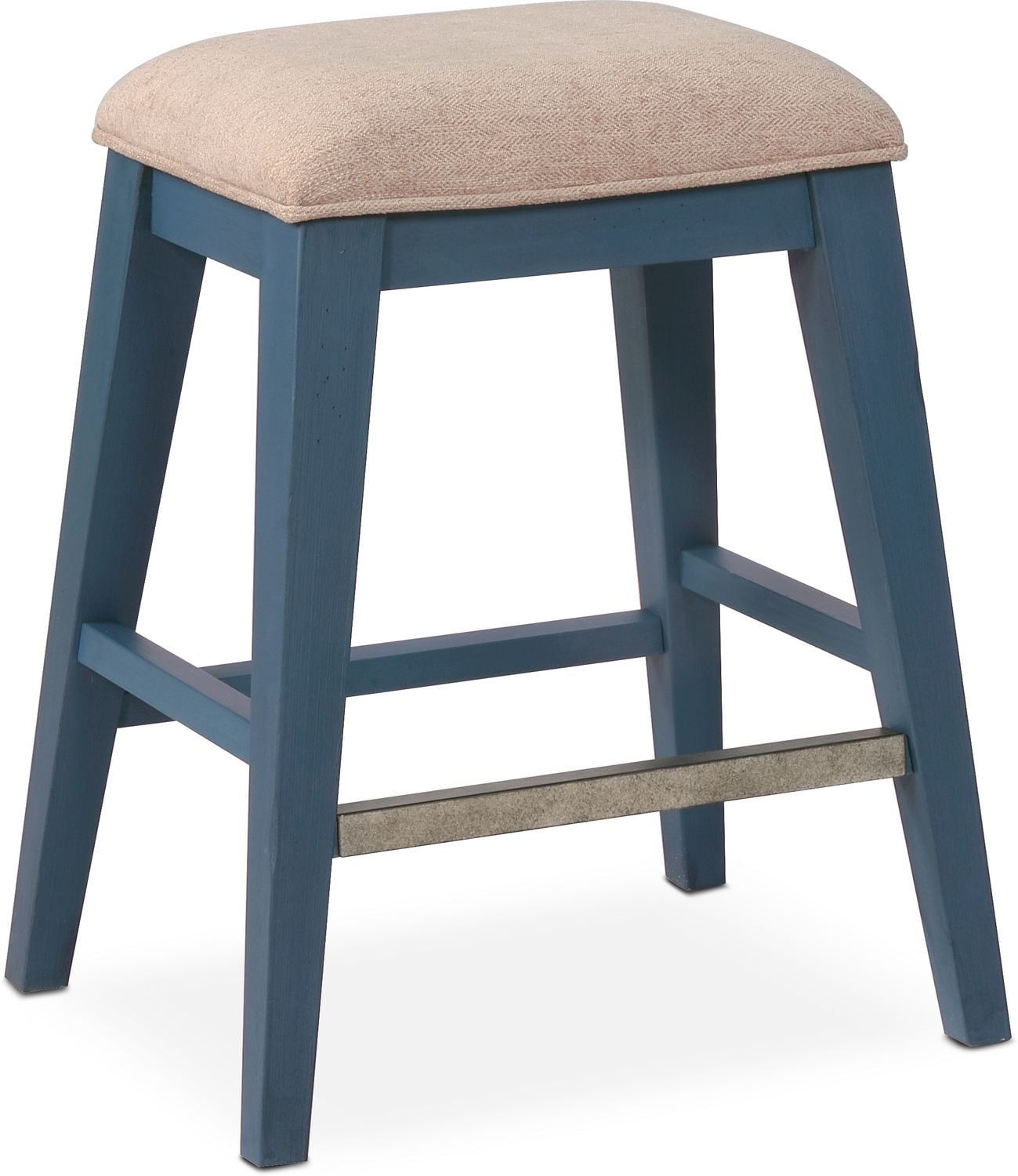 New Haven Counter Height Backless Stool Blue Value