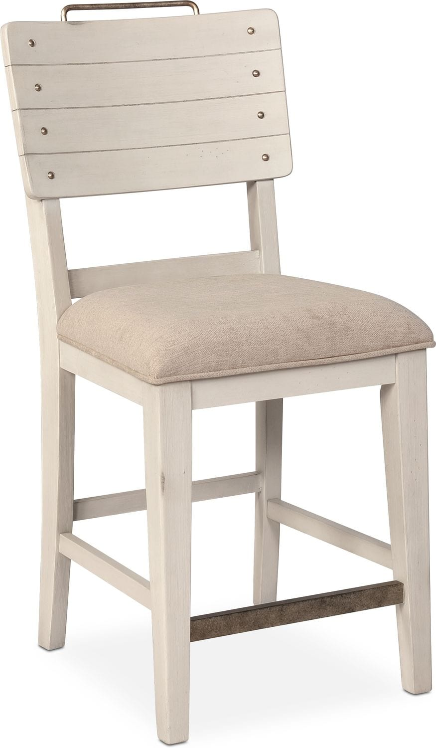 Dining Room Furniture - New Haven Counter-Height Shiplap Stool