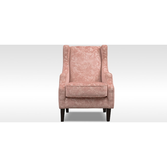 Living Room Furniture - Campbell Accent Chair - Blush