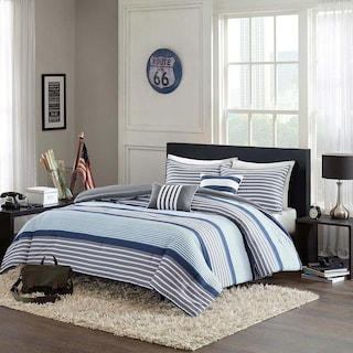 Paul 5-Piece Full/Queen Bedding Set - Blue