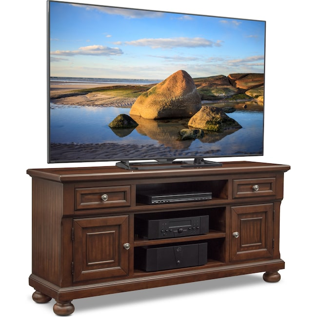 "Entertainment Furniture - Hanover 62"" TV Stand - Cherry"