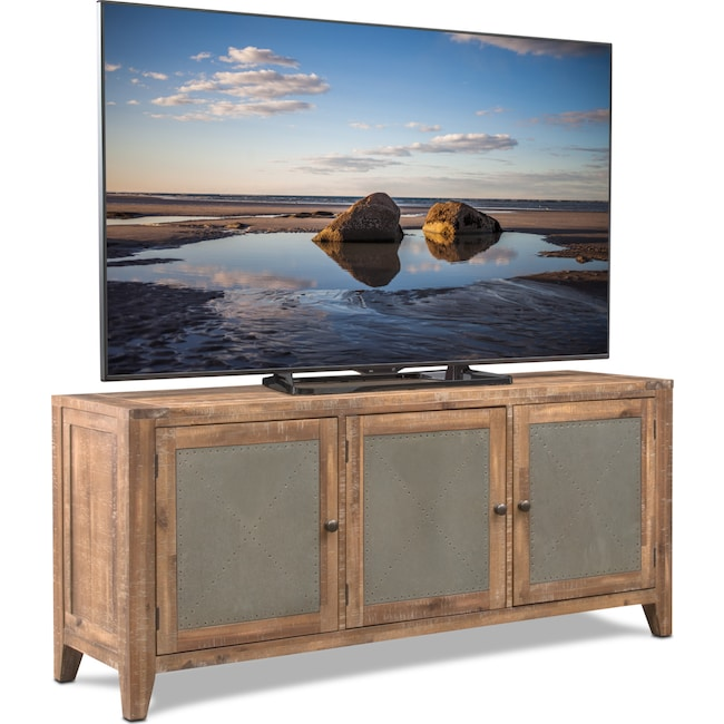 "Accent and Occasional Furniture - Colt 64"" TV Stand - Distressed Natural"