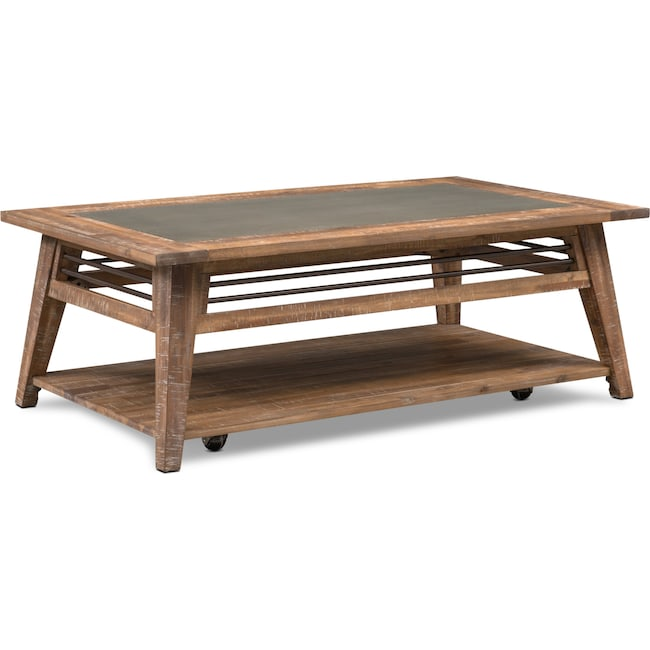 Accent and Occasional Furniture - Colt Coffee Table - Distressed Natural