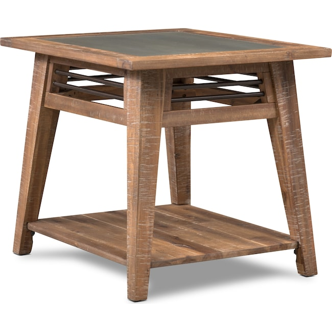 Accent and Occasional Furniture - Colt End Table - Distressed Natrual