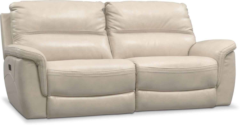 Avanti 2 Piece Triple Power Reclining Sofa Pearl Value