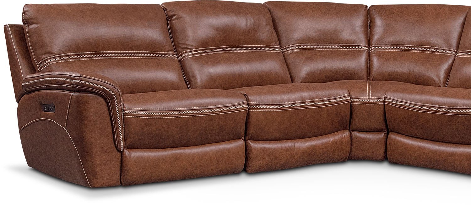 ... Avanti 6 Piece Triple Power Reclining Sectional With 3 Reclining Seats