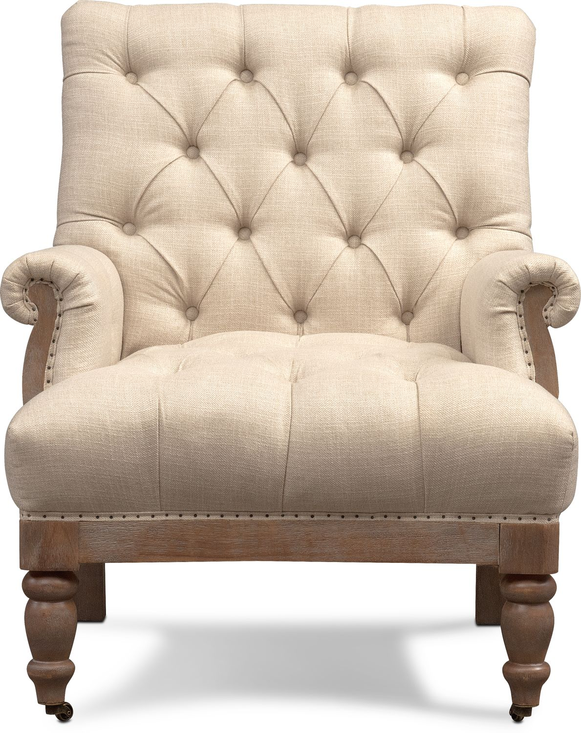 Bridget Accent Chair Cream Value City Furniture And